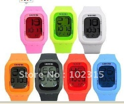 2012 10colors swatchs New style Fashion touch watch,touch screen led watch plastic luminous shhons sport watch freeshipping(China (Mainland))