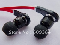 super A quality noise cancelling in-ear Earphone without control talk for tour -black/white free shipping