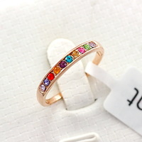 Hot Sale Colorful Crystal Fashion Band Ring Free Shipping