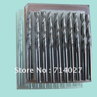 10Pcs Soild Carbide  Two Spiral Flute BIts  For Acrylic,PVC,PMMA,pc  Milling cutter