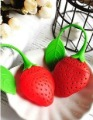Free Shipping!Creative cute home furnishing Strawberry Tea Strainers Infuser and silica gel filtration Teaspoon Filter/Wholesale(China (Mainland))