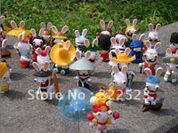 Best selling!! Rayman Raving Rabbids Rabbit Mini Figures Toy Model Free shipping, 5 pcs/lot