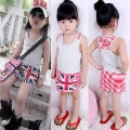 2012 summer girls children's clothing casual stripe vest full dress One-piece dress free shipping