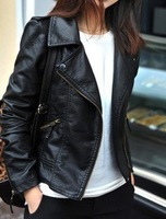 2012 autumn new women's casual leather Jackets