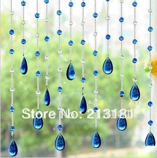 Wholesale crystal glass curtain multicolor crystal bead curtain curtain glass k9 full string