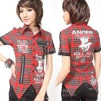 Glp punk fashion chinfun chiffon shirt 71213
