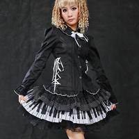Glp lolita white piano keys polka dot lace short skirt 61106