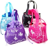 Free shipping Non-woven cloth shopping bag pocket bag portable lunch bag