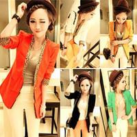 Women's 2012 autumn and winter women's blazer leopard print slim small suit jacket 473 free shipping