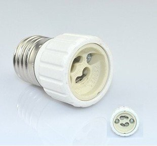 Free shipping E27 convert to GU10 lamp socket,Lamp adapter,led light base,led light holder E27 to EGU10 bulb holder(China (Mainland))