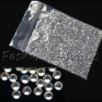 5pack/lot 20000pcs Clear Glitter 2mm Crystal Rhinestone Nail Art Decoration Art