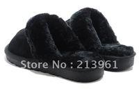 Fashion Lady Winter slippers women pure wool slippers