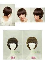 Is black hair girl wig hair bobo head wig temperament girl wig bobo head protein silk