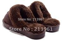 Fashion Lady Winter snow slippers women pure wool pontoufle