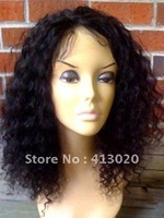 tangle free,Indian hair, lace front wig, hot sale, super soft,  free shipping  human hair wigs, color #1b,#1,#2,#4