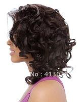 lace front wig, Malaysian hair, wavy, free DHL shipping, fabulous,dress, human hair wig, color #1b,#1,#2,#4