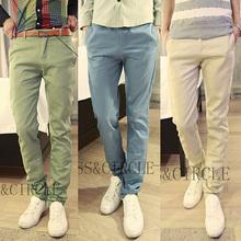 man fashion mens pants korea casual slim fit mens pants trousers Free shipping size 28 29 30 31 32 33 34(China (Mainland))