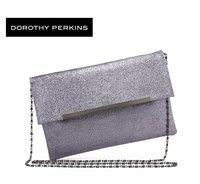 Free Shipping, Women Shimmering Sliver Powder Evening Bag/Purse/Messenger Bag, Lady Beautiful Handbag