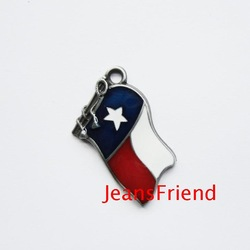 Metal pendant diy denim embossed all-match pendant texas state flag pendant(China (Mainland))