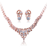 VIENNOIS bride accessories fashion luxury anthoxanthin necklace earrings fairy bride set