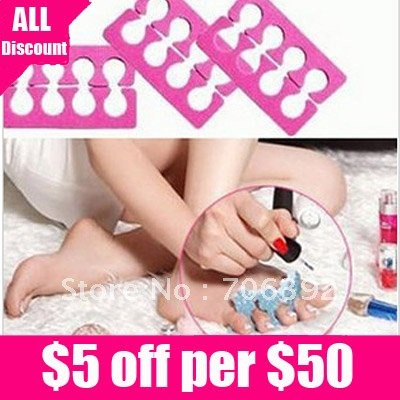 Free shipping Nail Art Tool Fixed Toe/Finger Separator/Nail Device 20pcs/lot(China (Mainland))