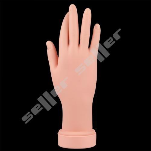 Nail Art Practice Training Soft Plastic Movable Model Hand(China (Mainland))
