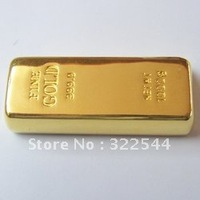 Golden Rectangle shape USB flash drives 1GB 2GB 4GB 8GB 16GB 10pcs a lot free shipping