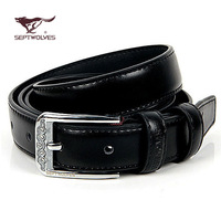 2014 Promotion Sale 39 Septwolves Thin Belt Women's Genuine Leather Fashion Cowhide Women Strap All-match Rhinestone Pin Buckle
