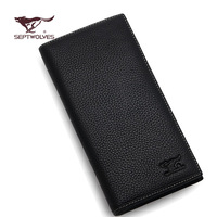 2014 new men wallet male long design cowhide clamours commercial genuine leather multi card holder wallet