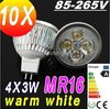 Sales DHL FREE MR16 220V 110V GU5.3 12W LED SpotLight bulb Bulbs Lamp lamps 85V-265V downlights 4X3W