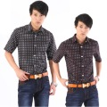 free shipping 2012 summer male short-sleeve shirt male slim short shirt Men shirt Discount