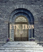 Decorative wrought iron door with transom for design 2013 -ETN D032
