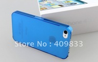 Ultrathin frosting plastic hard case for Iphone 4/4S free shipping 2 pcs/lot