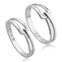 Jpf lovers ring female ring 925 pure silver jewelry pinky ring engraving gift