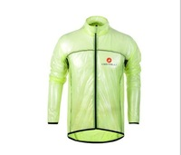 Hot !Green  Castelli cycling raincoat  /cycling jacket  of ultra-thin transparent outdoor  coat waterproof &rainproof