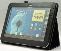Black NEW Good Folio Stand Leather Case Cover for Galaxy Note 10.1 N8000