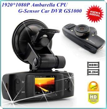 FULL HD 1920*1080P 30FPS GS1000 Car DVR Recorder with  Ambarella CPU H.264 G-Sensor 4 IR LED 120 Degree Car Key Camera Record
