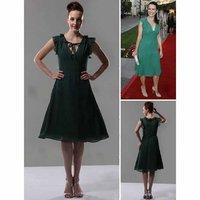 Free shipping A_line Knee_length Chiffon Sex and the City Dress / Bridesmaid Dress 01349