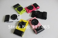 Wholesale-50pcs/Lot  DHL Free shipping camera case for iphone 4 4S Shell for iphone4 4S Fashionable Mobile Phone Cover