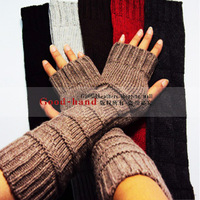 Fashion blandification jacquard women's long design lucy refers to wool gloves d-14 Size fits all long 35cm