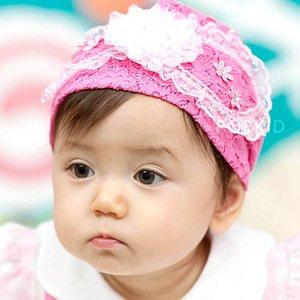 new arrival gauze flower baby headband autumn hair