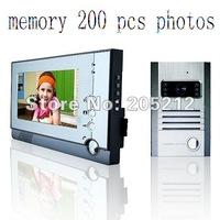 Guaranteed 100% 7 inch wired video door phone with 200 photos memory