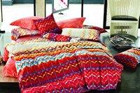 4pcs King/Full/Queen reactive sanding duvet covers red orange geometric leaves pattern bedding sets home textile