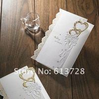 Free customized printing,  wedding invitation card, 10001, Wedding gifts , free shipping