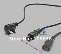 Free Shipping 50pcs/lot by DHL Fedex UPS, 3-5 days arriving your side AU AC Cable 3 Prong Wires 250V 10A CE