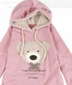 Hot sell Free shipping 2012 NEW hoodie long top pullover, winter coat,garment coat,women's coat,hoodie Cute teddy bear Y0750