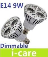 110V 230V Dimmable Led Spotlight Lamp High Power E14 9W Led Bulb Light  Warm White 3000K Energy Saving Lights
