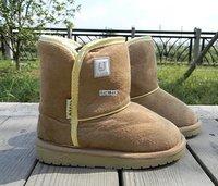 Fashion Children's Camel  Snow Boots Kids Shoes LJ Unisex Boots Warm Winter Hardwearing Shoes 6 colors