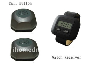 waiter calling system, 20  bells and 10 watch receivers, wireless and easy installation.