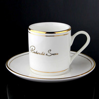 FREE SHIPPING! Quality phloxes coffee cup concentrated espresso cup gold and silver small dish